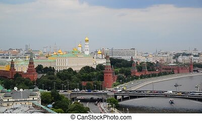 View of the Kremlin and River Moskva, Russia - View of the...