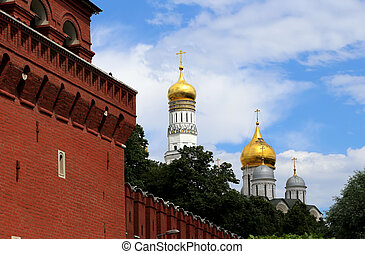 View of the Kremlin-- Russia, Moscow.