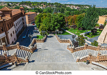 View of the La Escalinata in Teruel, Spain