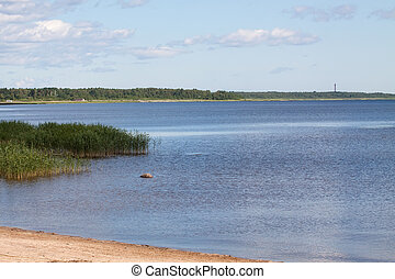 Ladoga lake - View of the Ladoga lake, Russia, at summer day