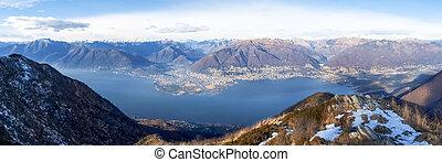 Gambarogno, Switzerland: Trail of Mount Gambarogno and views of the mountains and Lake Maggiore