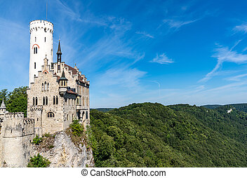 view of the Lichtenstein Castle in southern Germany