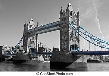 view of the London tower bridge
