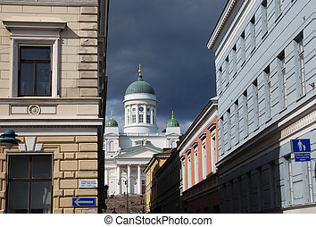 Helsinki - view of the Lutheran Cathedral in Helsinki, ...