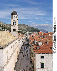 Dubrovnik (Croatia) - View of the main shopping mall of...