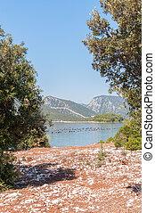 View of the Mali Ston town in Croatia