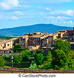 Medieval City - View of the Medieval City in Tuscany, Italy
