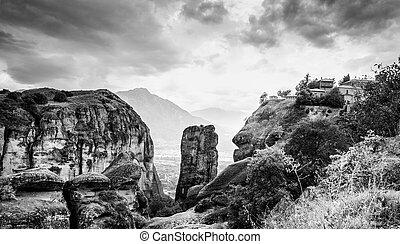 View of the Meteora monastery