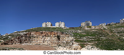 View of the modern houses Amman, Jordan, Middle East