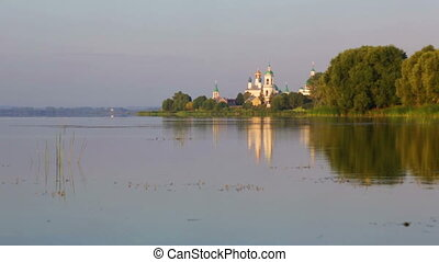 View of the Monastery of St. Jacob Saviour and Nero lake -...