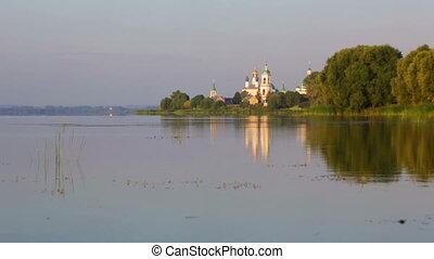 View of the Monastery of St. Jacob Saviour and Nero lake -...