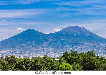 view of the mount vesuvius. Naples, Italy