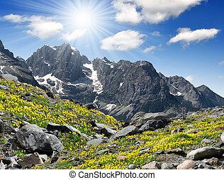 Brenta-Dolomites Italy - view of the mountain Brenta-...
