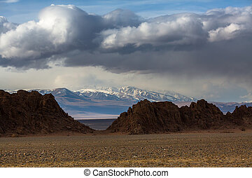 View of the mountains of Western Mongolia.