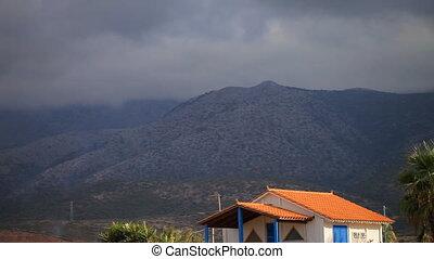 View of the mountains. Santorini island, Greece