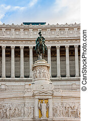 View of the national ,monument a Vittorio Emanuele II on the the Piazza Venezia in Rome, Italy