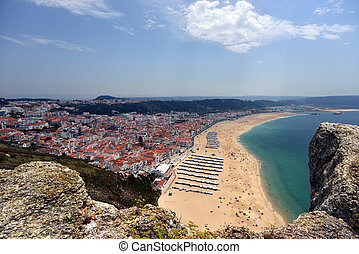 View of the Nazare in Portugal