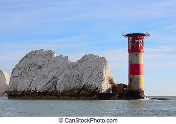 View of the Needles Lighthouse Isle of Wight