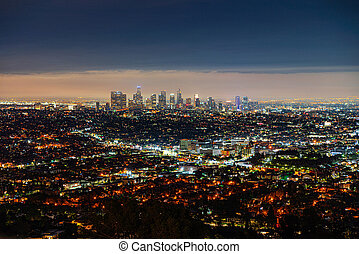 View of the night city, Los Angeles