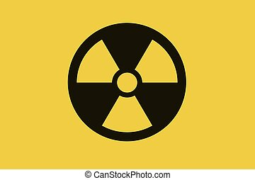 Nuclear symbol on yellow