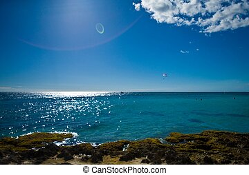 View of the ocean in the