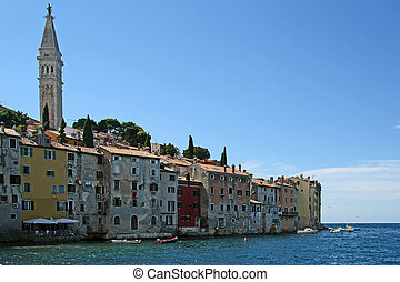 View of the old city Rovinj--city in Croatia situated on the north Adriatic Sea with a population of 13,562