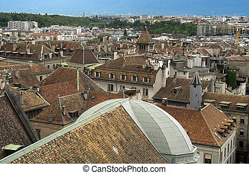 view of the old Geneva, Switzerland