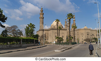 View of the old part of Cairo. Mosque-Madrassa of Sultan Hassan. Cairo. Egypt.