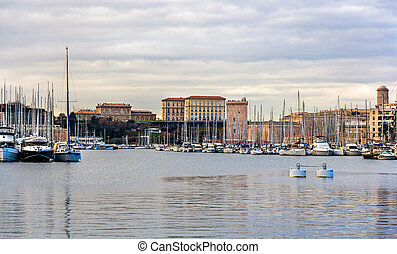 View of the Old Port of Marseille - France