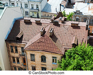 view of the old roof top Kiev