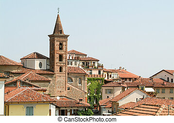 View of the old town centre in Rivoli
