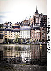 View of the Old Town in Stockholm, Sweden