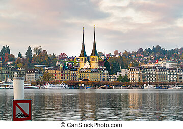 View of the old town Lucerne