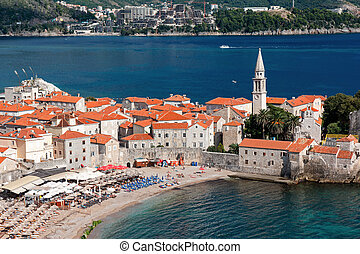 View of the old town of Budva, Montenegro