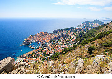 View of the old town of Dubrovnik, Croatia