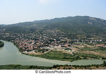 View of the old town of Mtskheta in Georgia