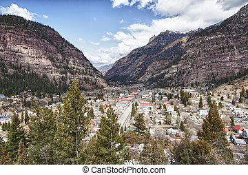 Ouray city, Colorado - View of the Ouray city, Colorado