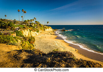 View of the Pacific Ocean from cliffs at Heisler Park, in Laguna