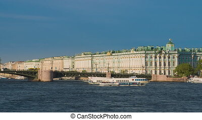 View of the Palace bridge in St.Petersburg, Russia