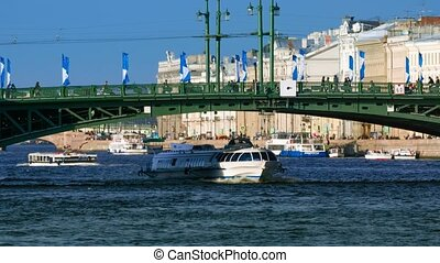 View of the Palace bridge in St.Petersburg