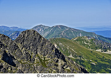 View of the peak ?winice, and Kasprowy in the Polish Tatras