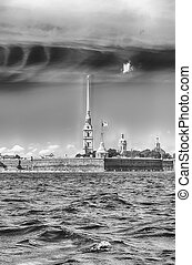View of the Peter and Paul Fortress, St. Petersburg, Russia