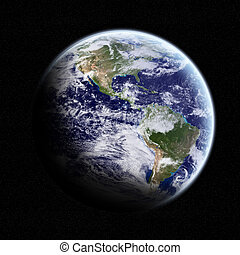 View of the planet Earth in space