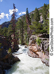 The Pool rapids in Rocky Mountains National Park, Colorado
