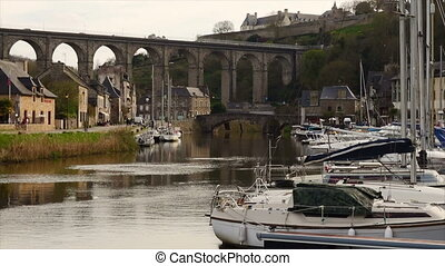 port of Dinan - view of the port of Dinan, River Rance,...