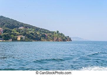 View of the Prince's Islands and the Sea of Marmara,Turkey....