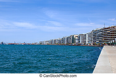 View of the promenade, Thessaloniki - View of the promenade...