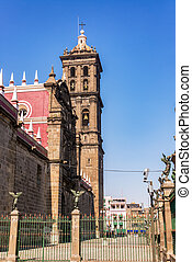 View of the Puebla Cathedral