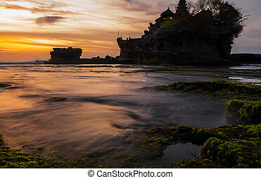 View of the Pura Tanah Lot temple , Bali