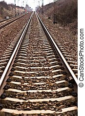 railway - view of the railway track on a sunny day
